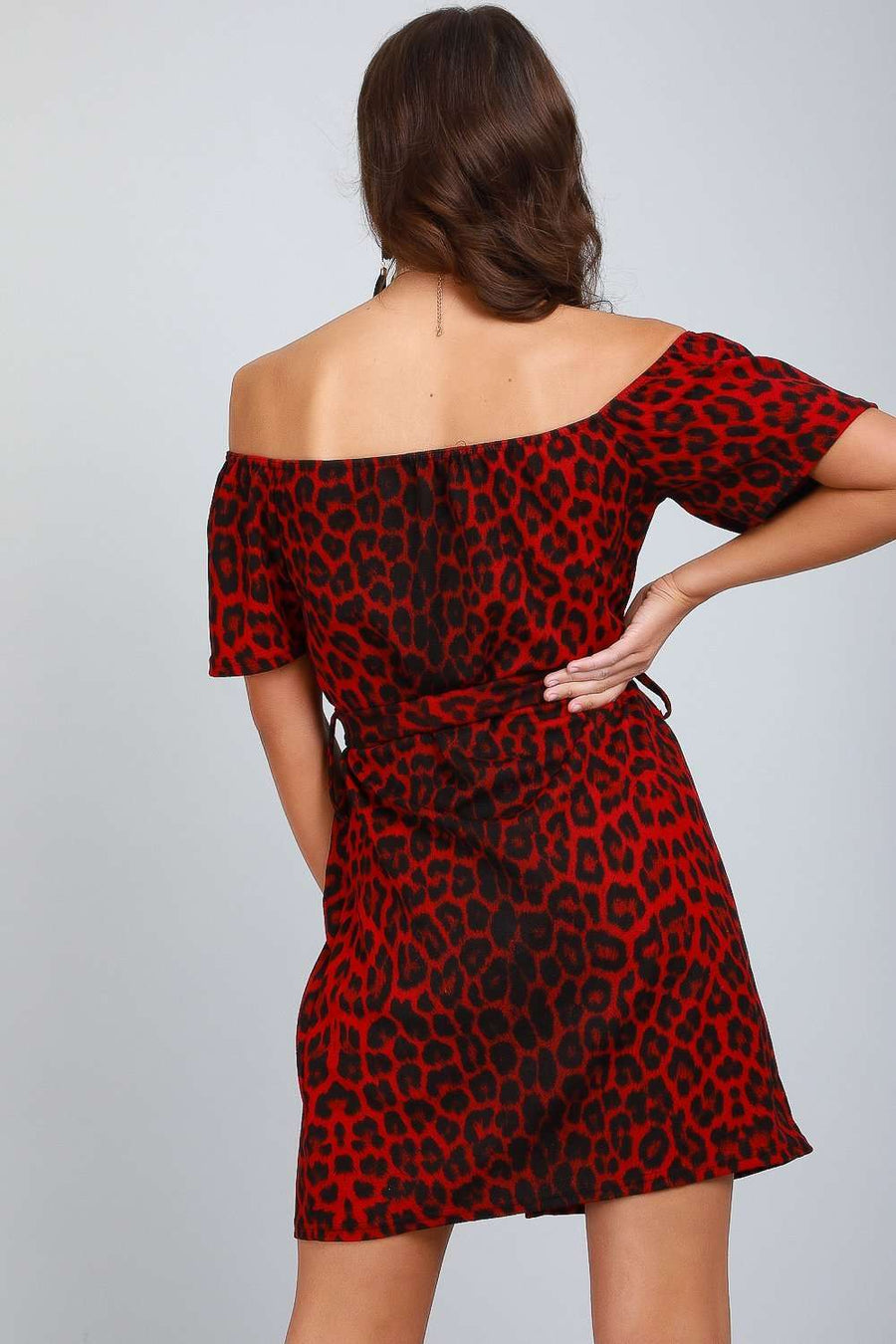 Geena Leopard Button Through Mini Dress - bejealous-com