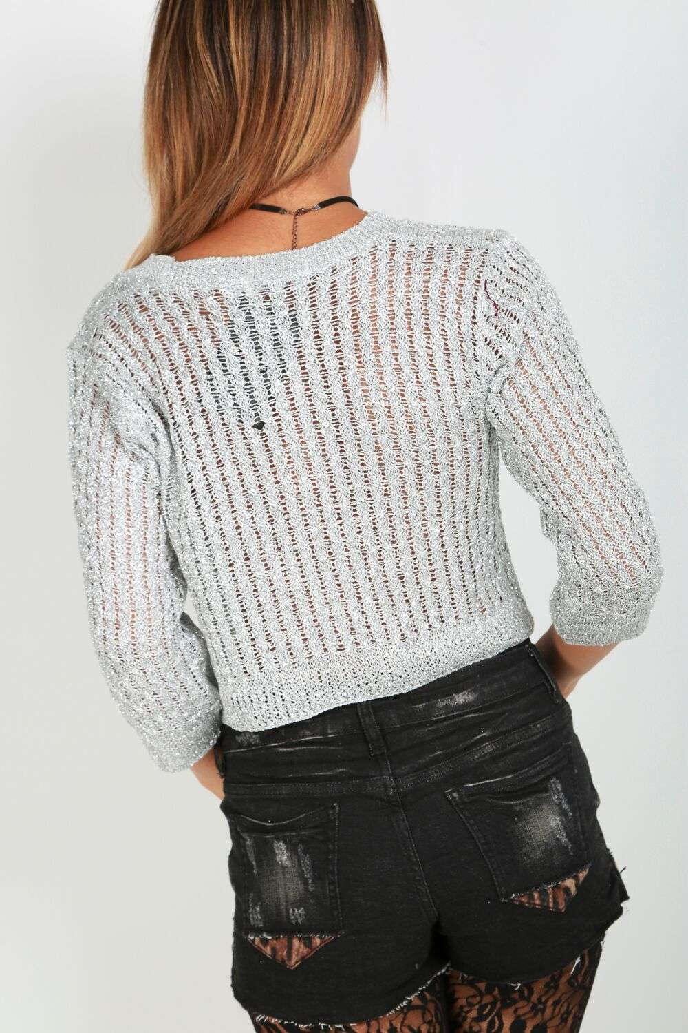 Georgia Metallic Crop Top - bejealous-com