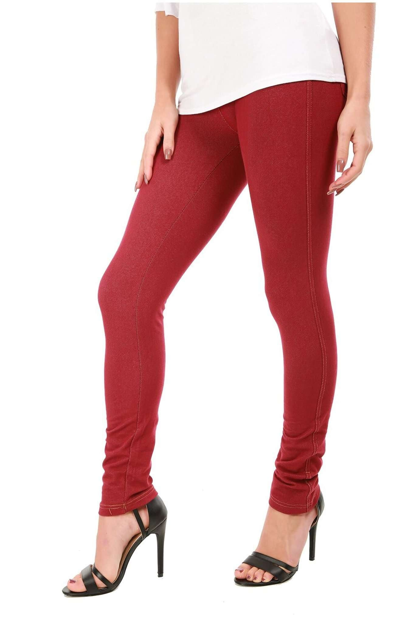 Geraldine Stretch Skinny Fit Plain Denim Jeggings - bejealous-com