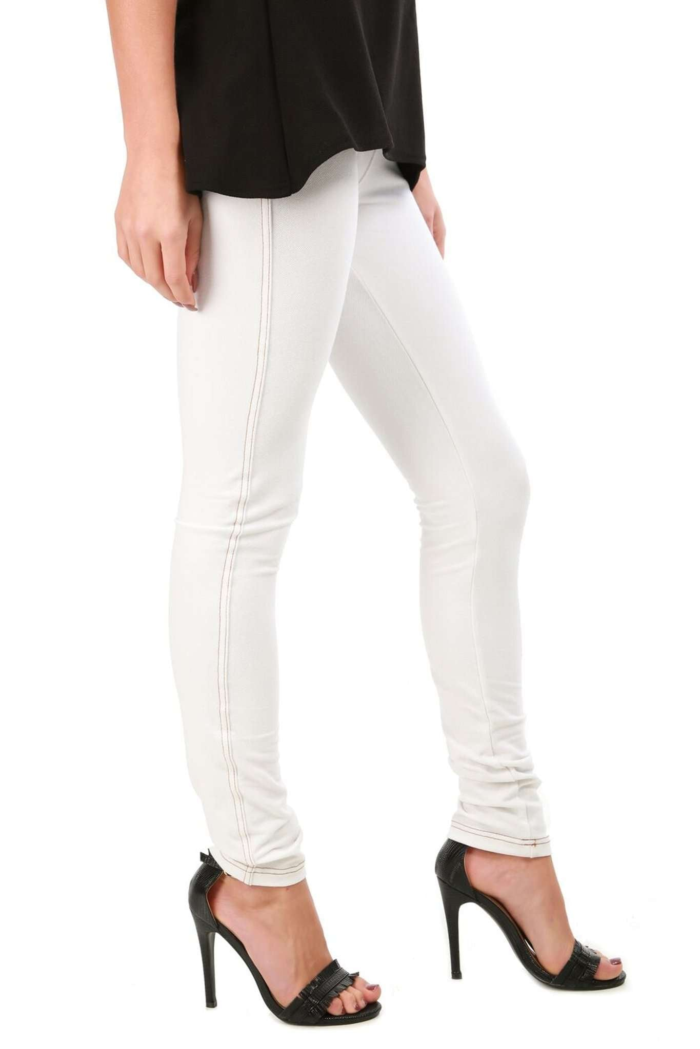 High Waist Stretch Skinny Denim Jeggings - bejealous-com