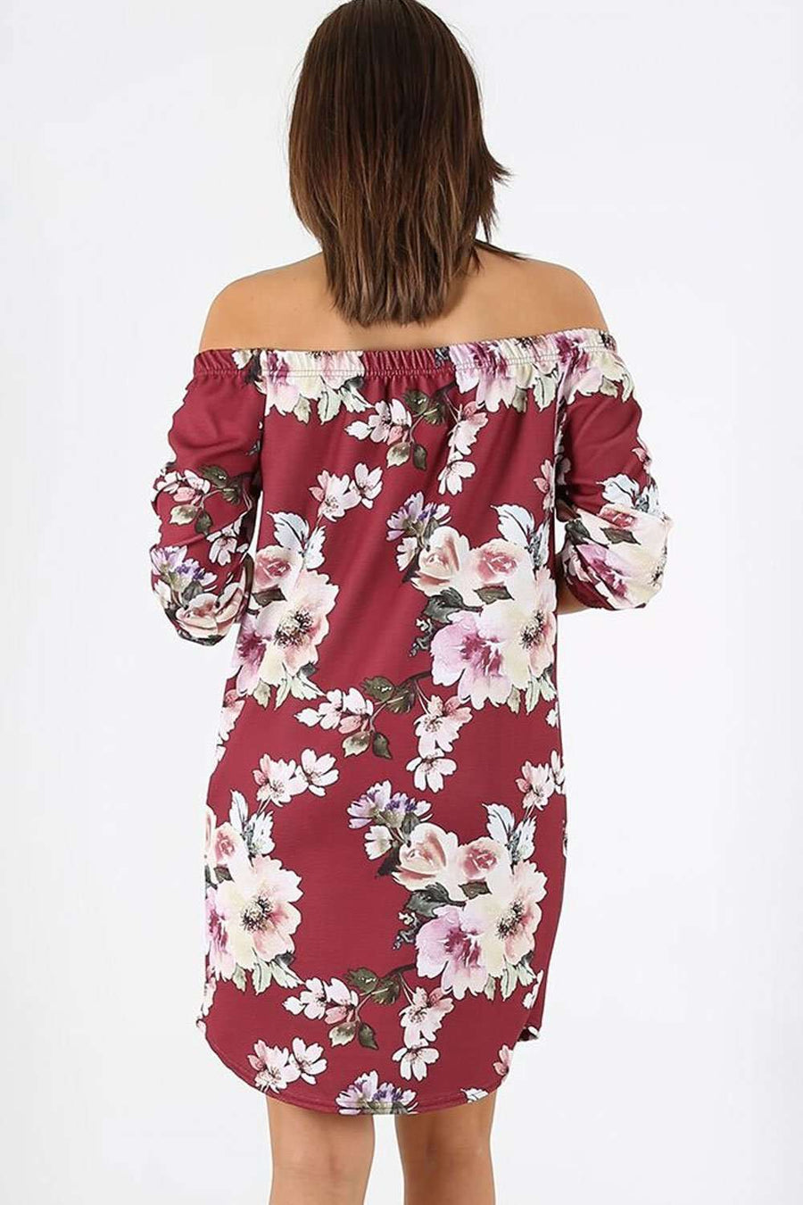 Gina Off Shoulder Floral Mini Dress - bejealous-com
