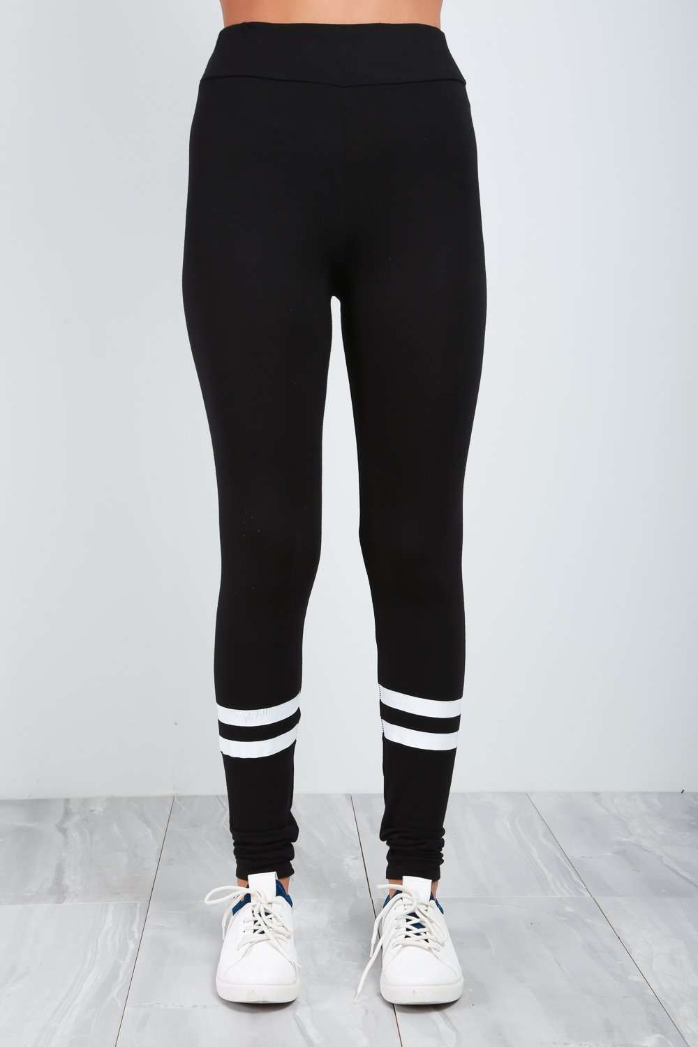 Grace Sports Luxe Striped Basic Leggings - bejealous-com