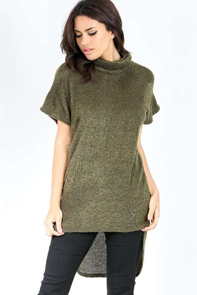 Hallie Roll Neck Knitted Top - bejealous-com