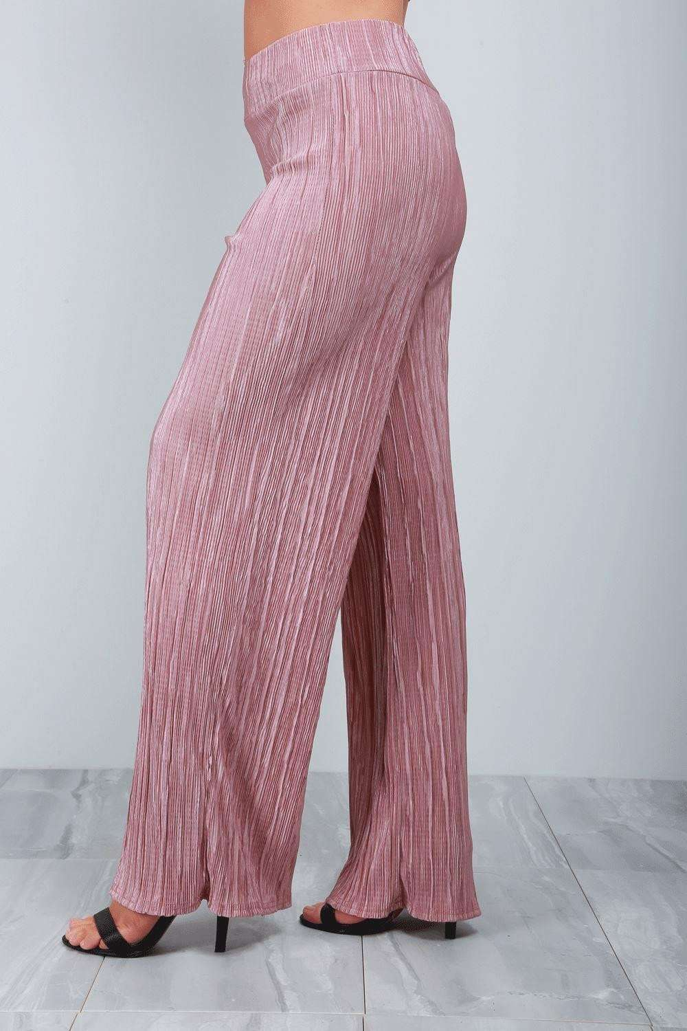 Hannah High Waist Pleated Trousers - bejealous-com