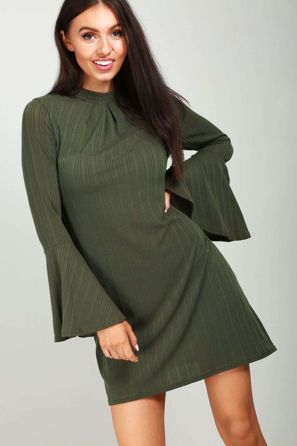 Harriet Flare Sleeve Dress - bejealous-com
