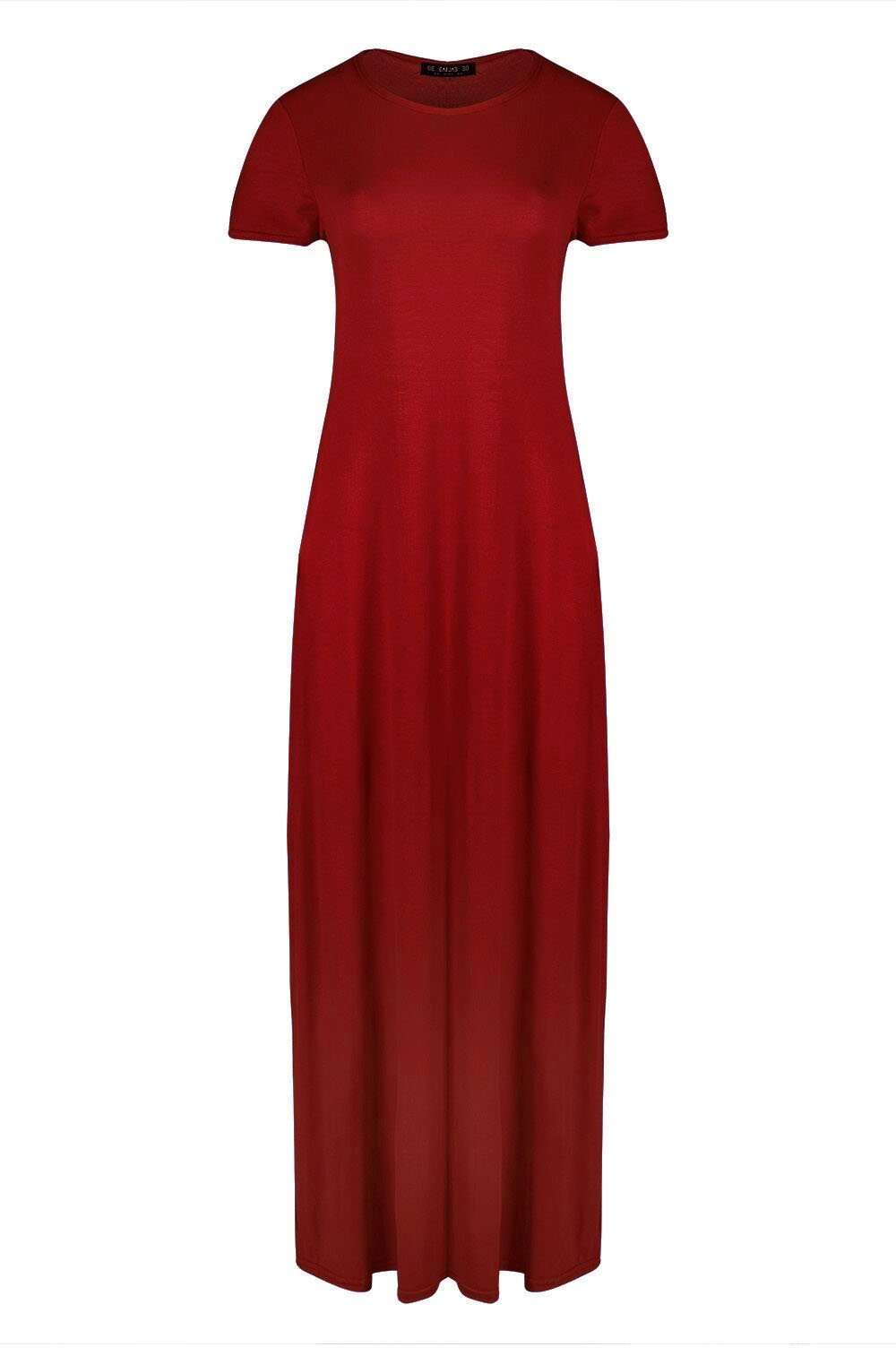 Harrieta Jersey Maxi Tshirt Dress With Pockets - bejealous-com