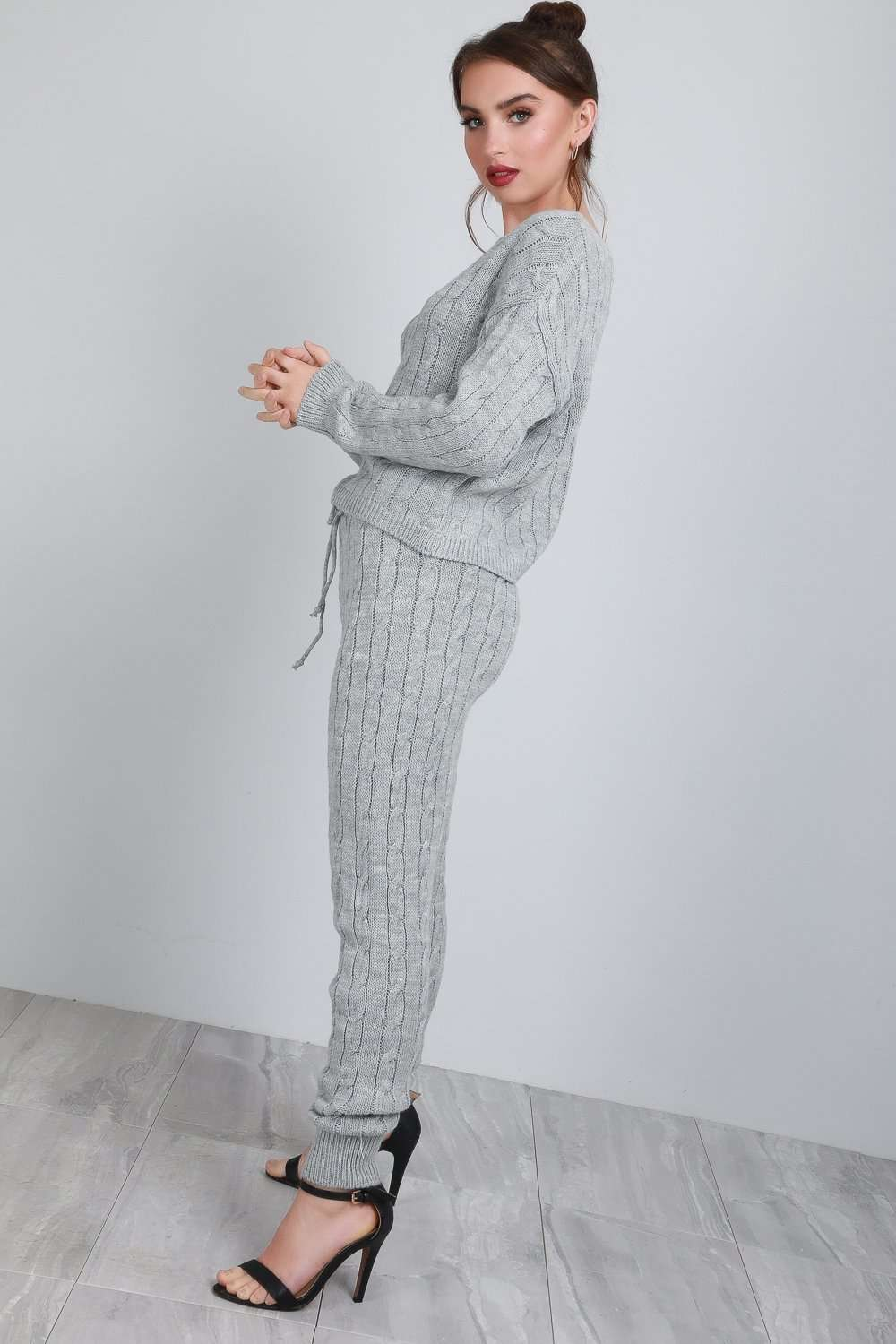 Hayley Chunky Knitted Lounge Wear Coord - bejealous-com