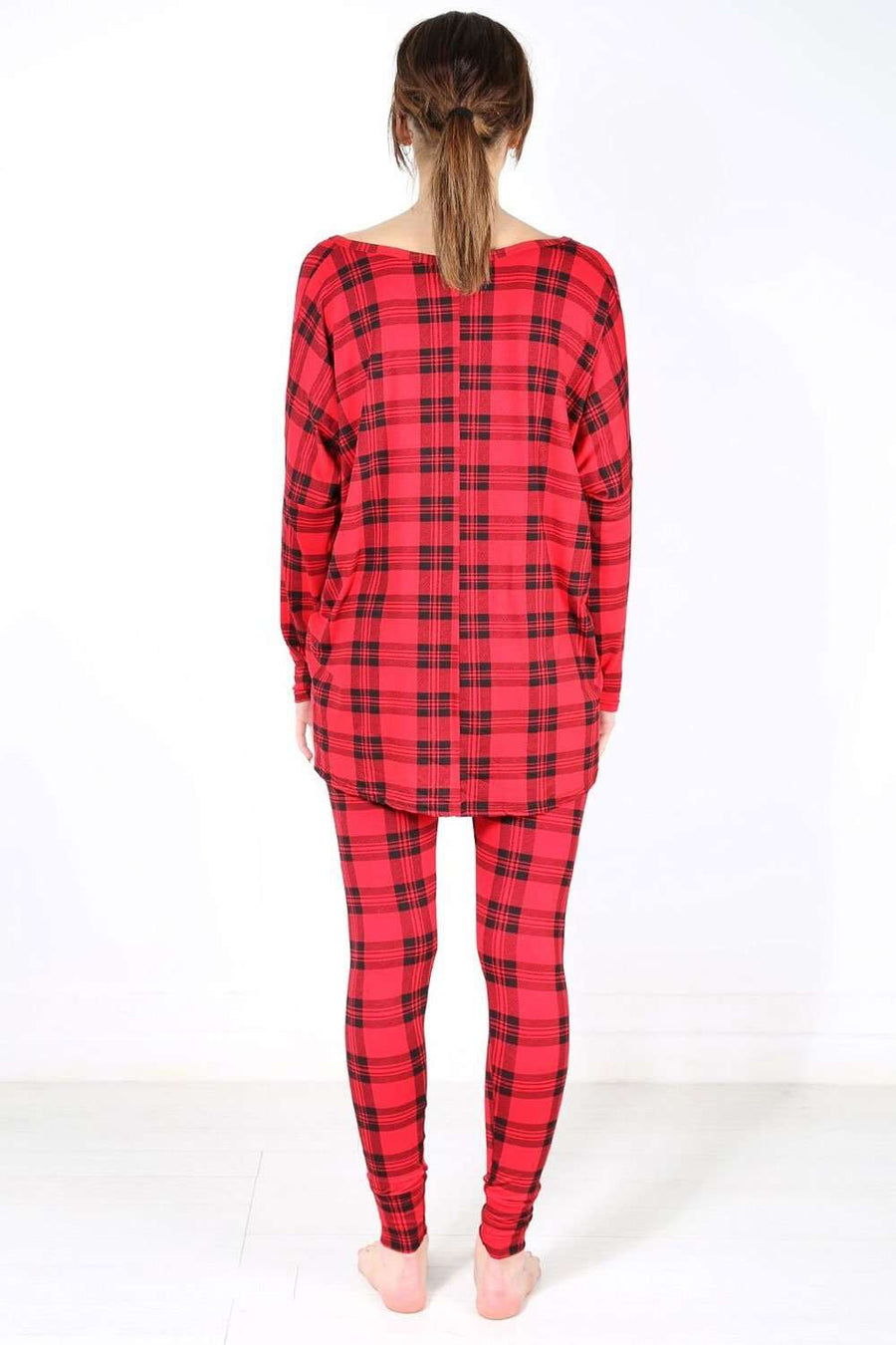Hettie Red Tartan Lounge Wear Coord - bejealous-com