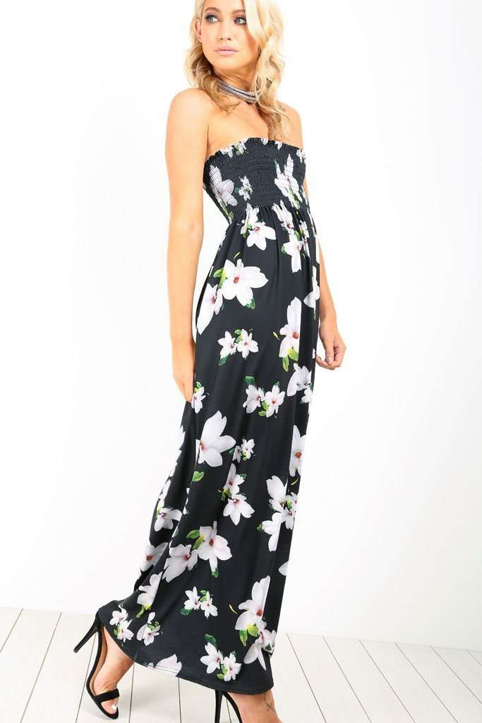 Immie Plus Bandeau Floral Maxi Dress - bejealous-com