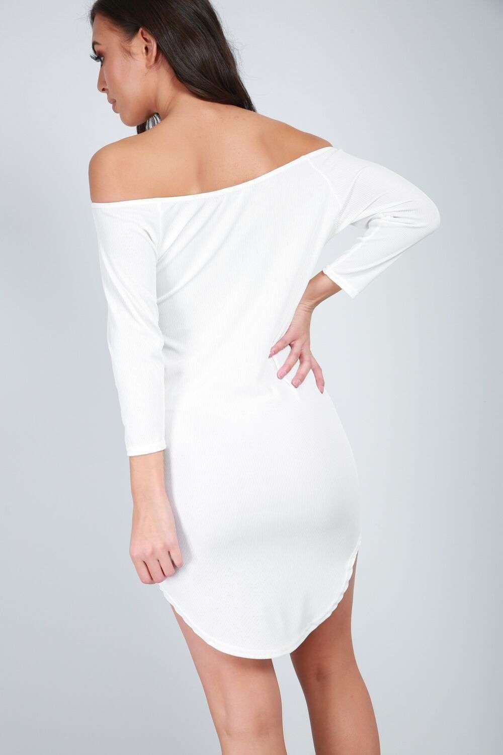 Iris Bardot Ribbed Bodycon - bejealous-com