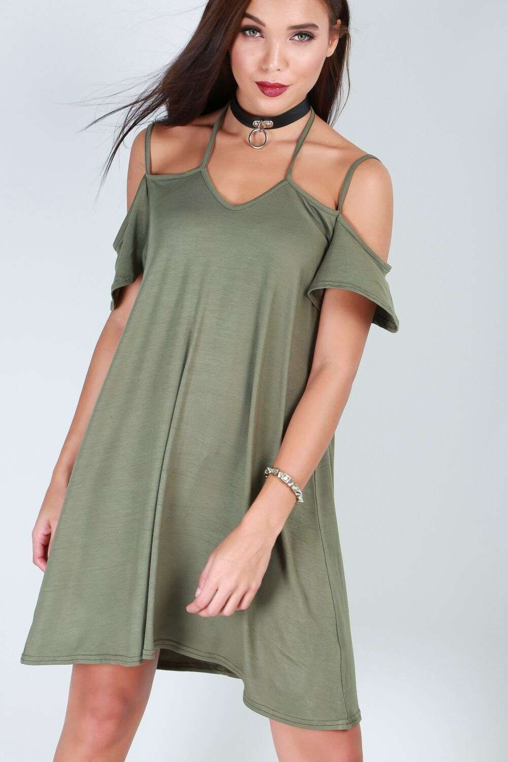Isabella Strappy Jersey Dress - bejealous-com