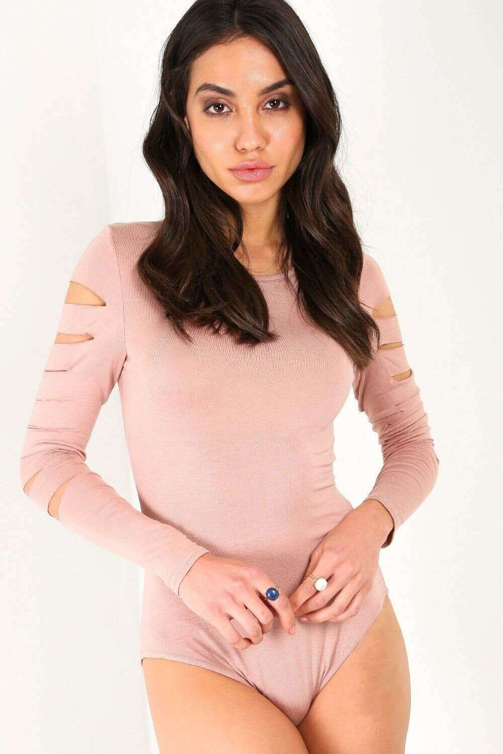 Issi Long Sleeve Ripped Bodysuit - bejealous-com