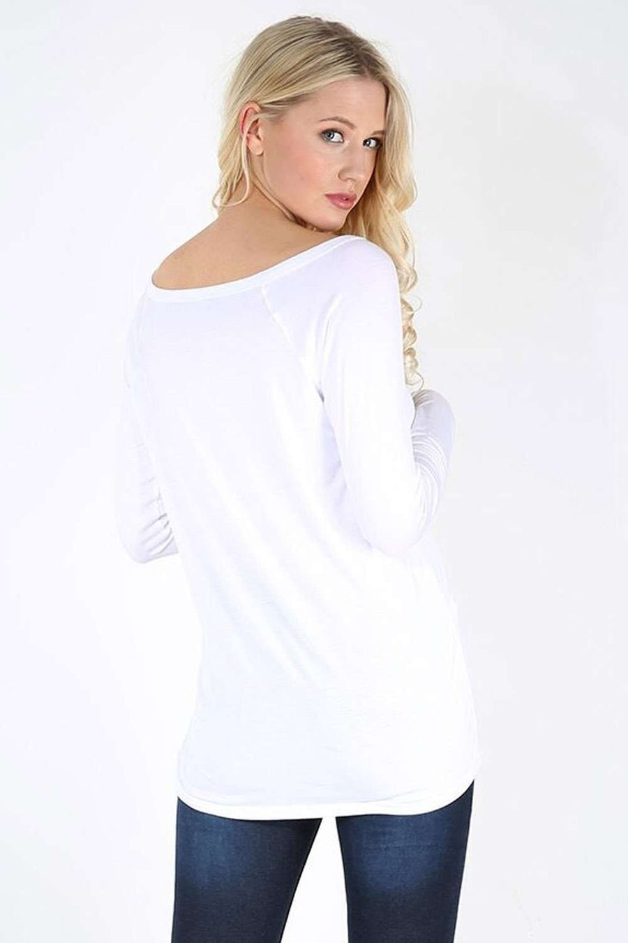 Jae Off Shoulder Long Sleeve Basic Top - bejealous-com