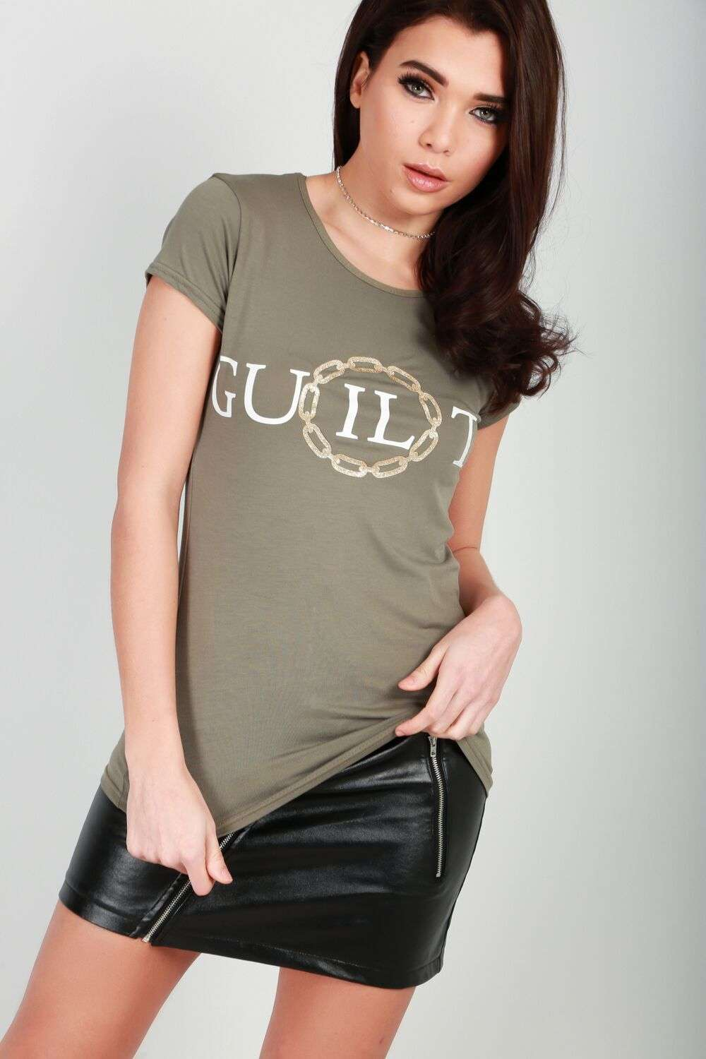 Jamelia Guilty Slogan T-Shirt - bejealous-com