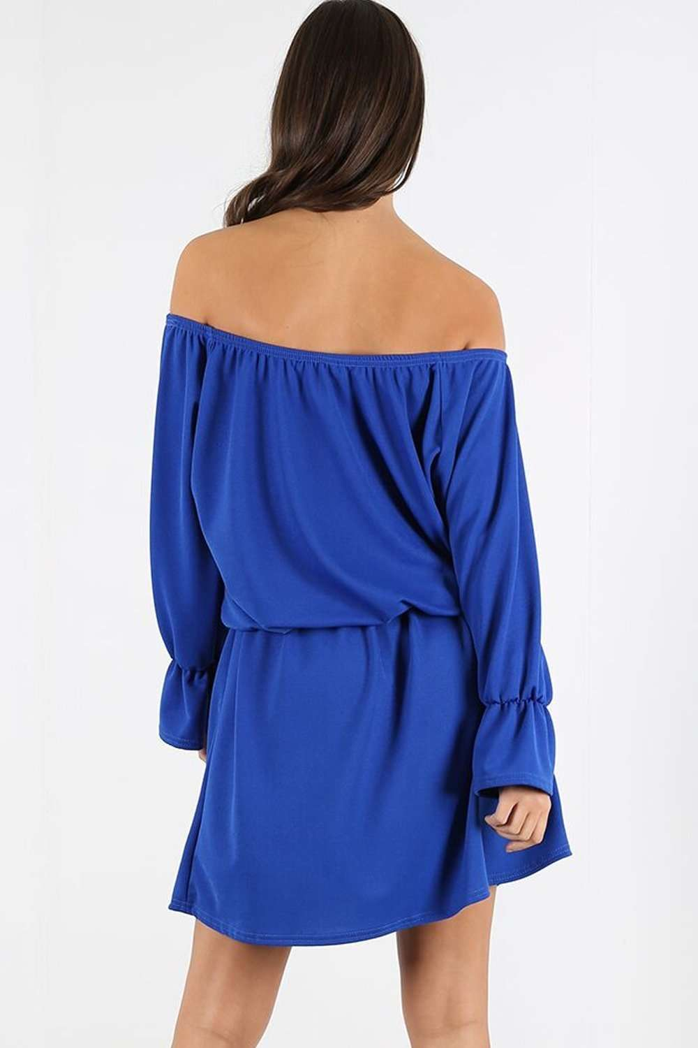 Janet Off Shoulder Long Sleeve Midi Dress - bejealous-com