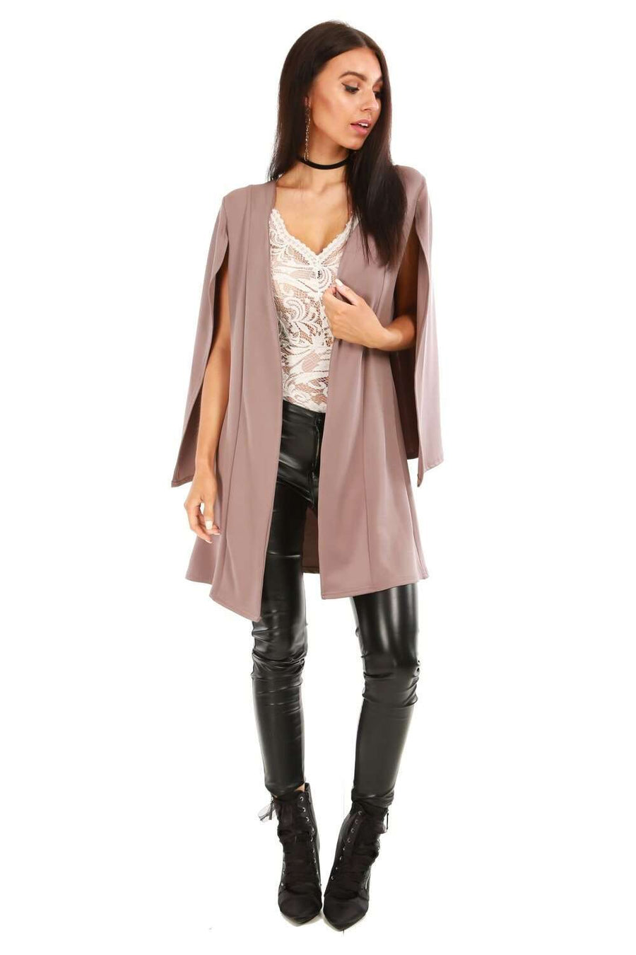 Jessie Long Line Cape Blazer Jacket - bejealous-com