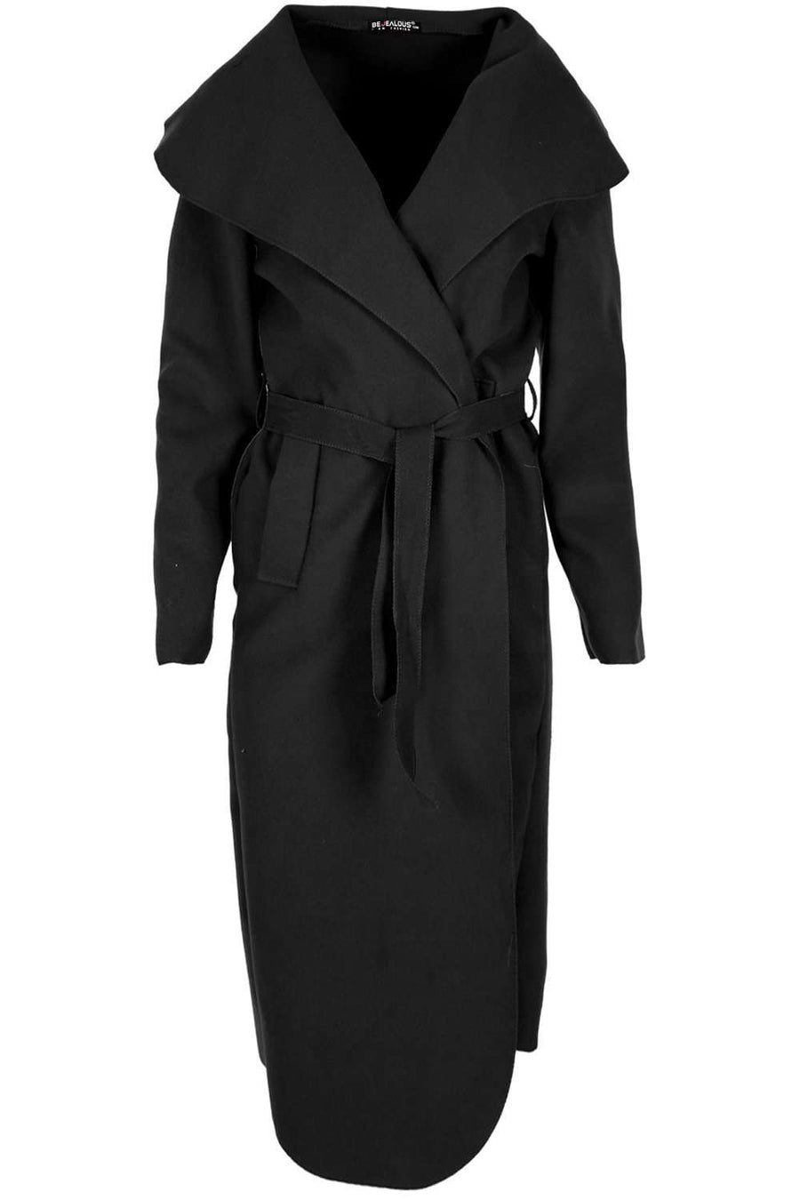 Karan Long Sleeve Midi Waterfall Jacket - bejealous-com