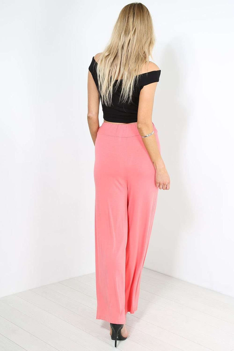 Karis High Waisted Wide Leg Palazzo Pants - bejealous-com