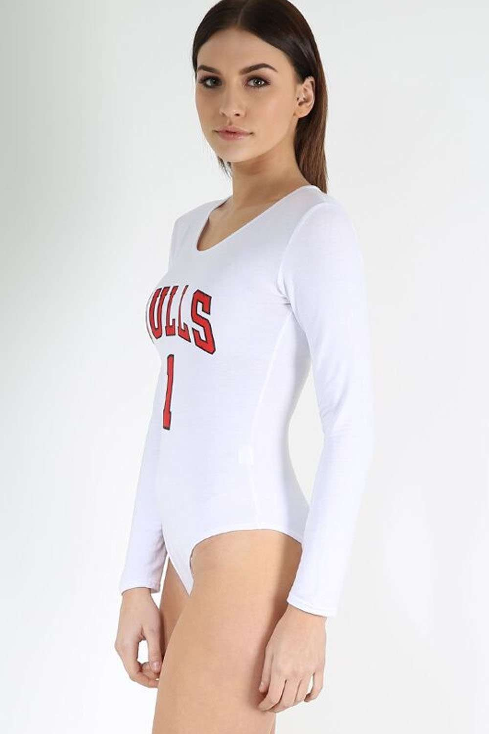 Kasie Long Sleeve Bulls Slogan Bodysuit - bejealous-com