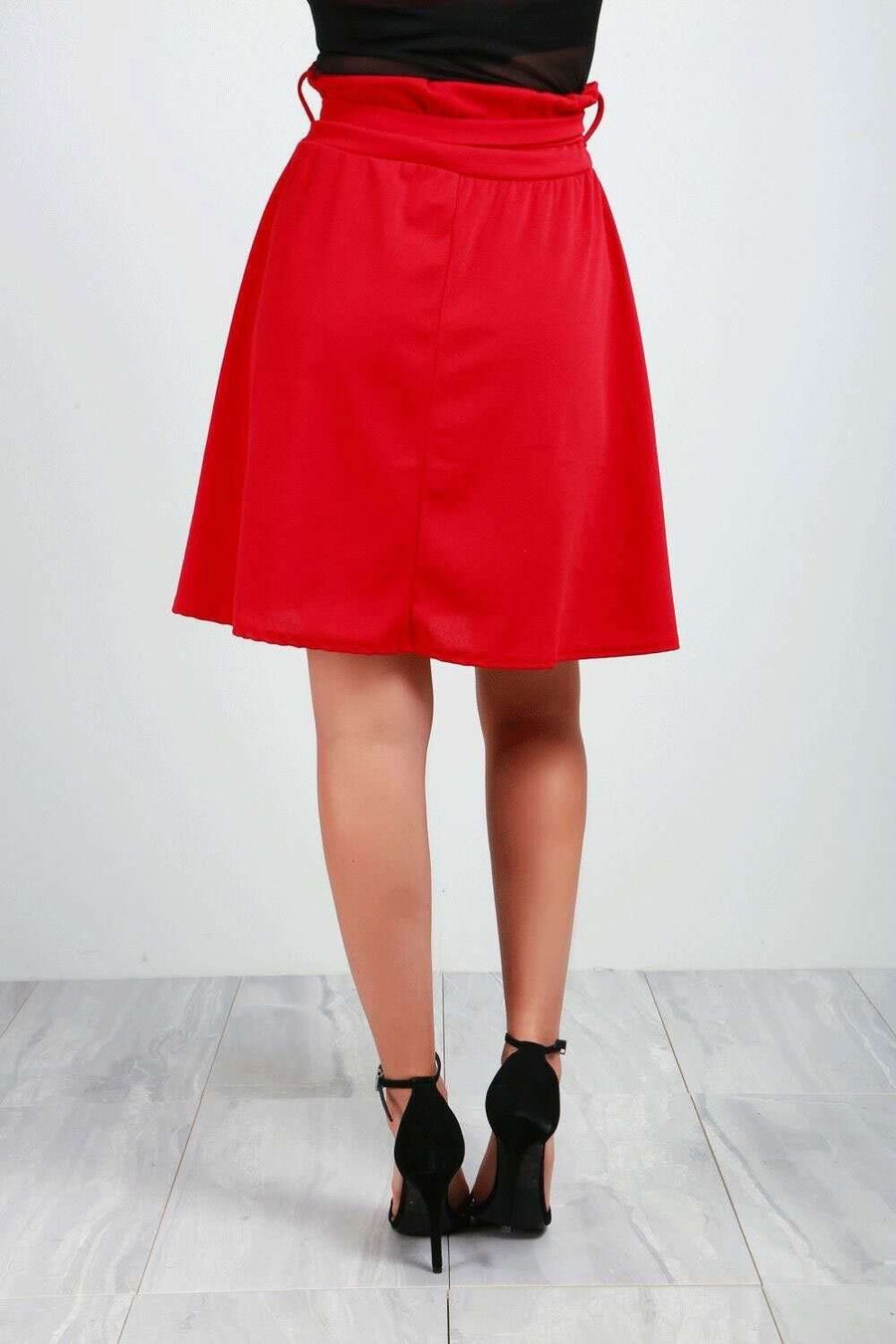 Katie High Waist Belted Skater Skirt - bejealous-com