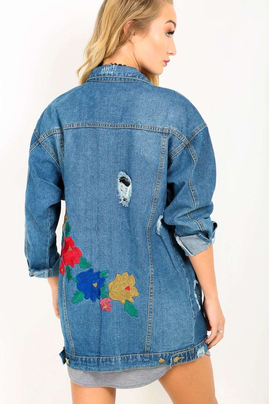 Keerah Embroidered Denim Jacket - bejealous-com
