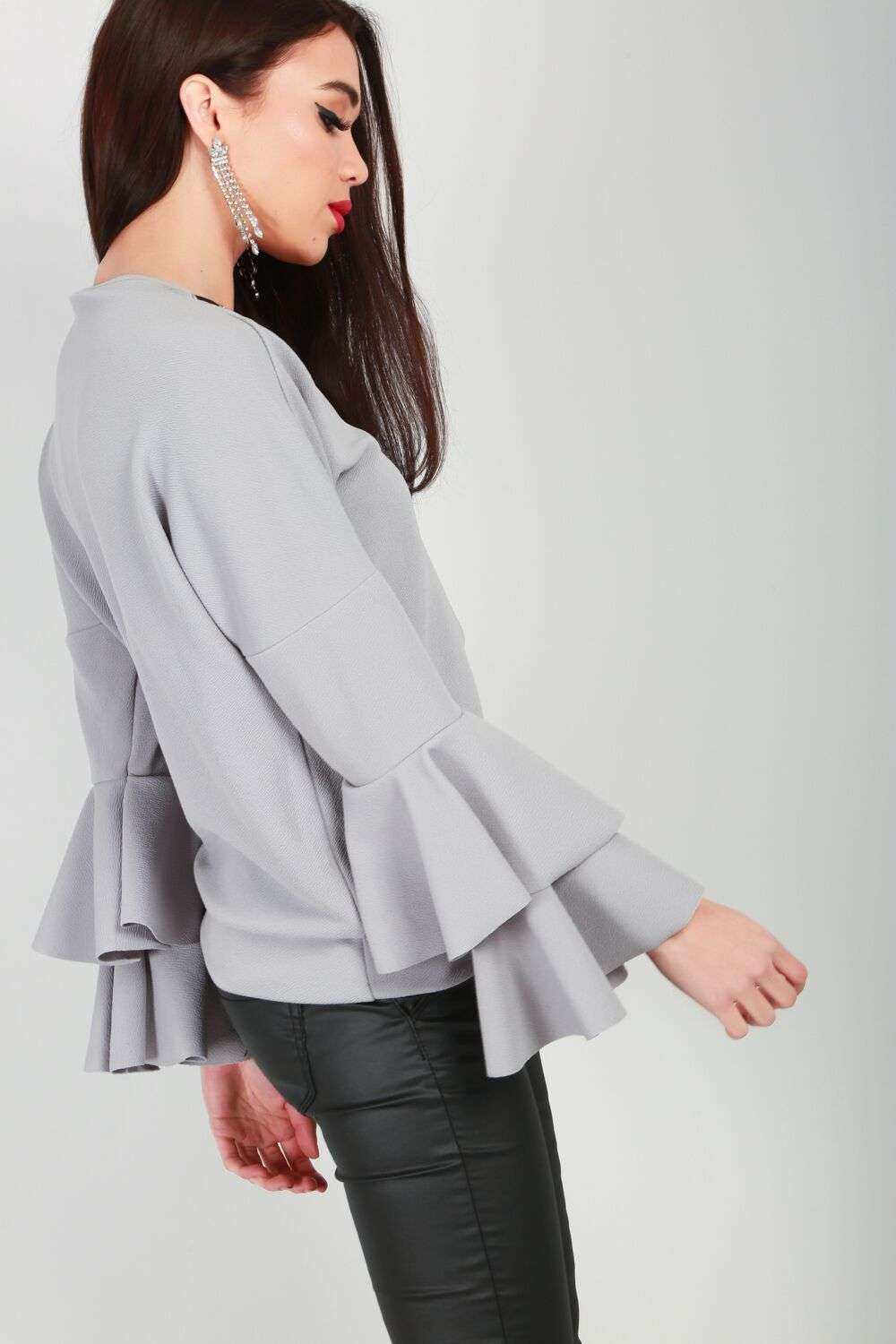 Kimmy Tiered Frill Sleeve Top - bejealous-com