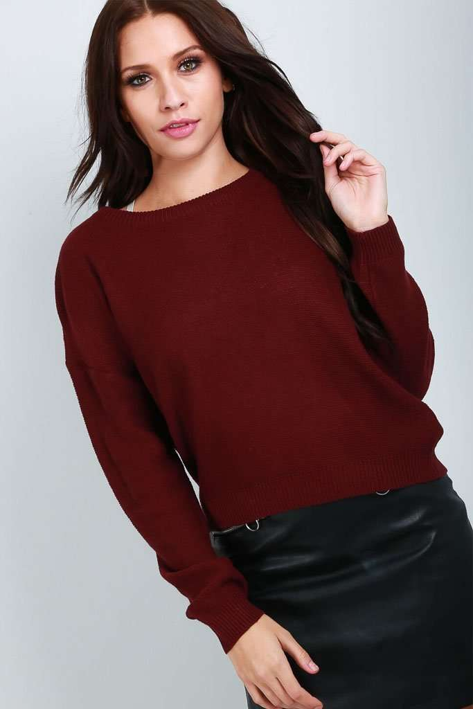 Emerald Fine Knit Long Sleeve Cropped Jumper - bejealous-com