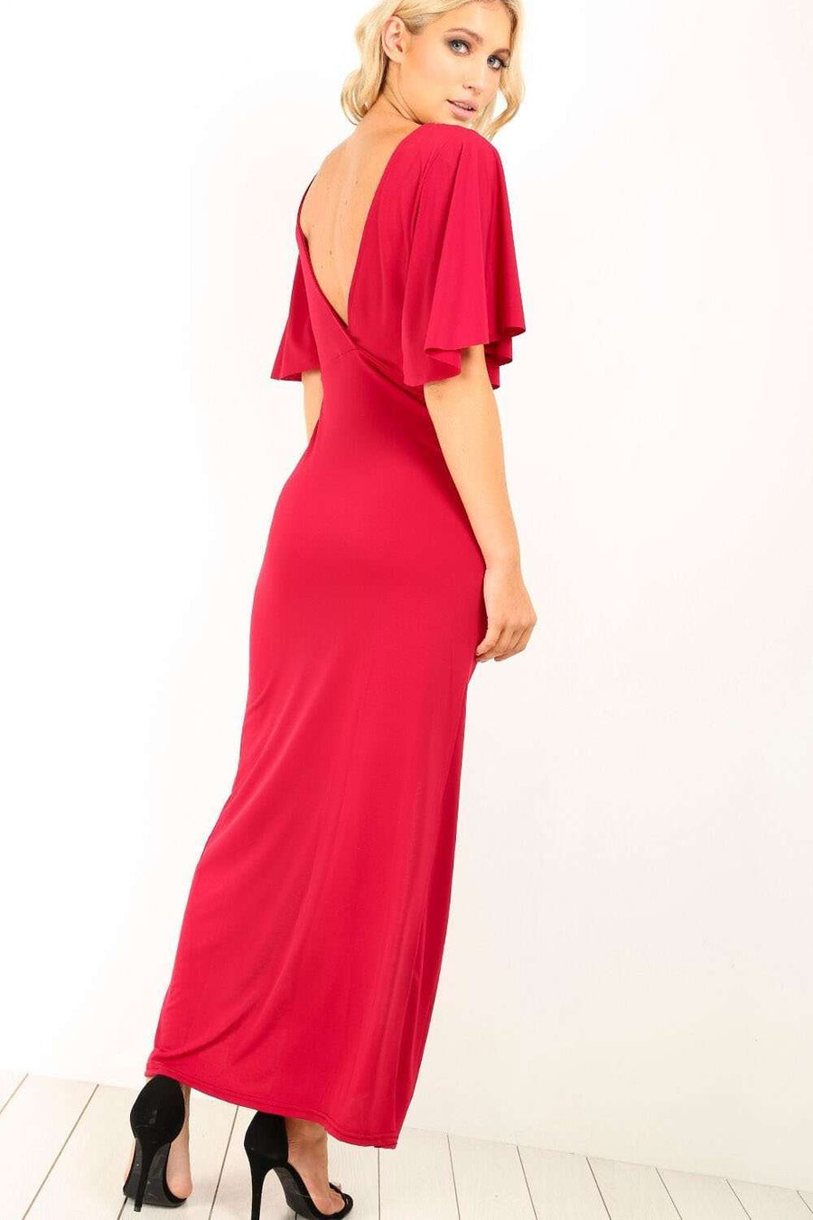 Layla Open Back Split leg Maxi Dress - bejealous-com