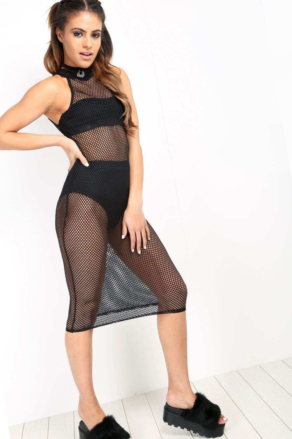 Leah Fish Net Bodycon Dress - bejealous-com