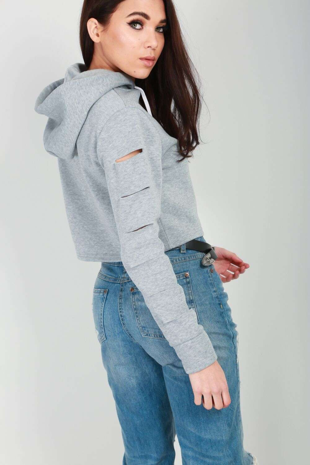 Lexie Cropped Hooded Jumper - bejealous-com