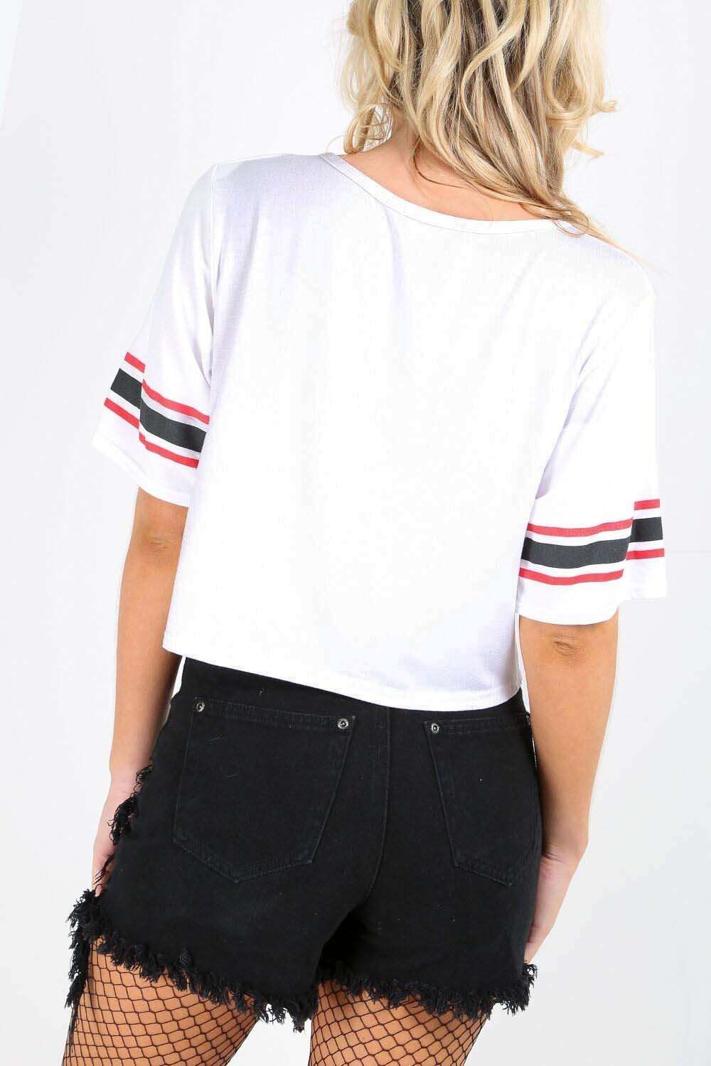 Lidija Graphic Crop Top - bejealous-com