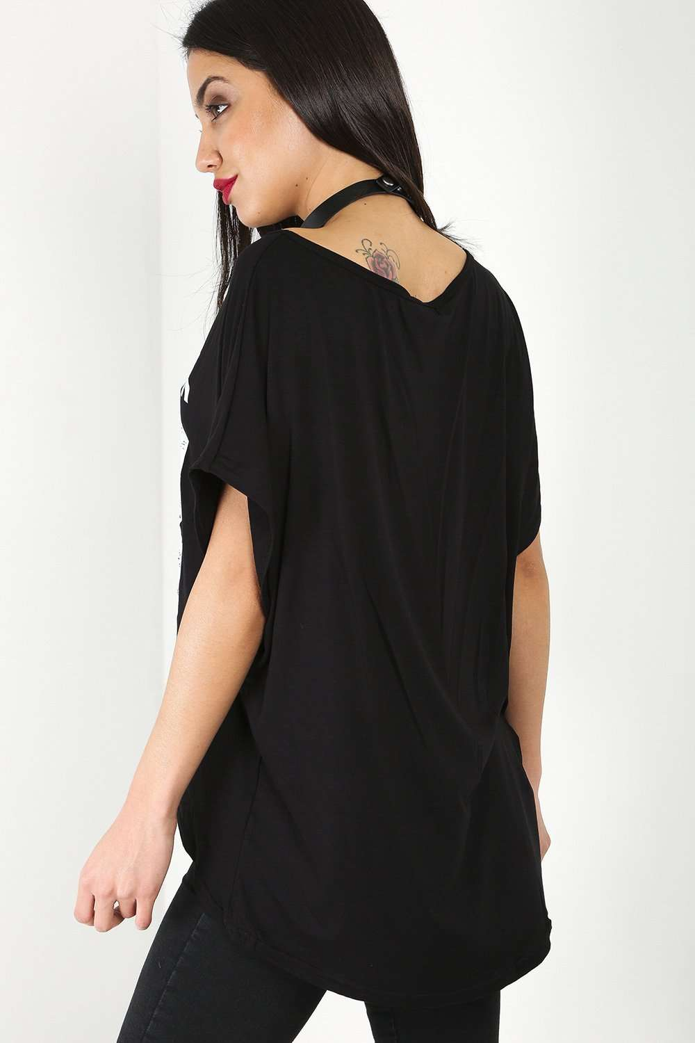 Lindie Oversized New York Bat Wing Tshirt - bejealous-com