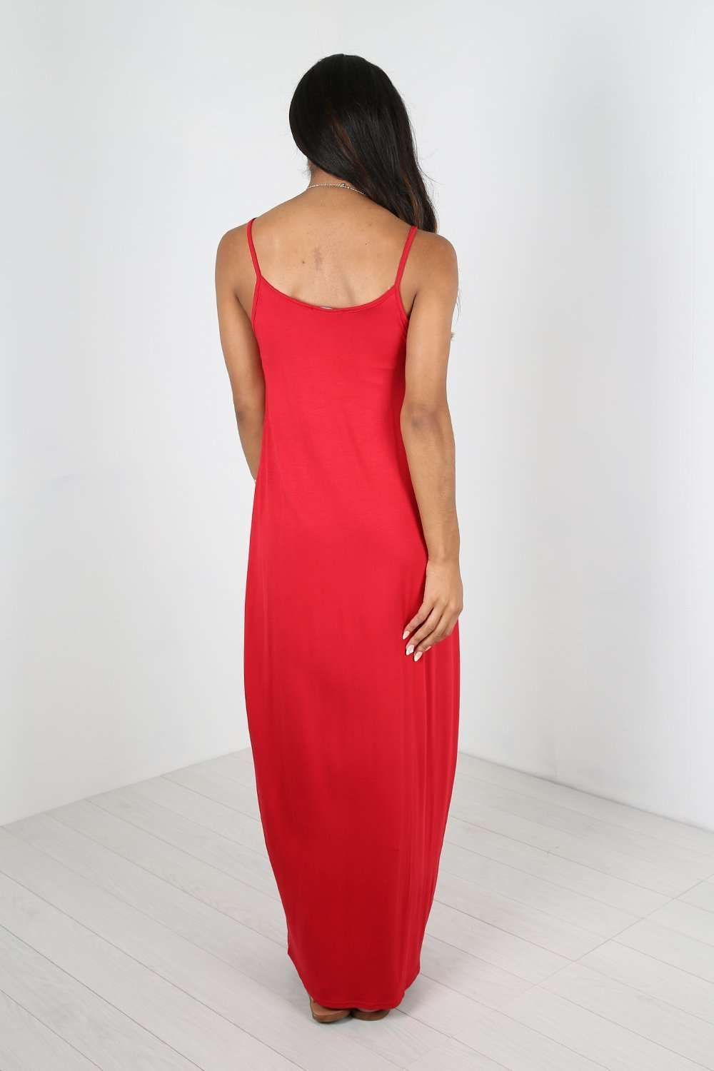 Lola Strappy Draped Jersey Maxi Dress - bejealous-com