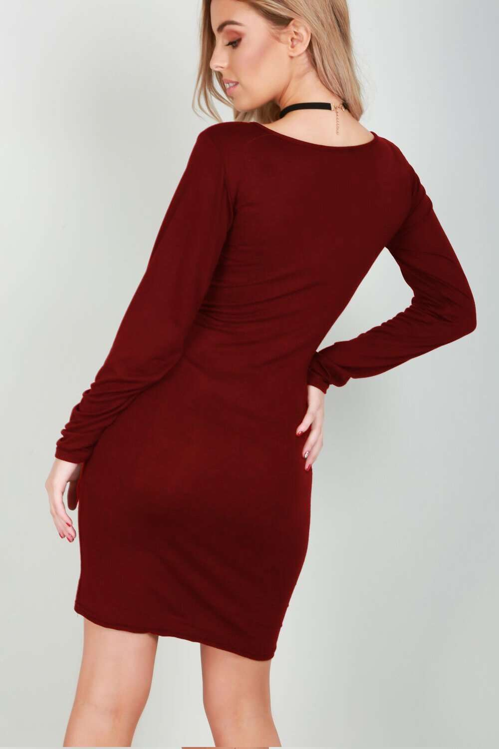 Long Sleeve Mummy's Christmas Pudding Maternity Dress - bejealous-com