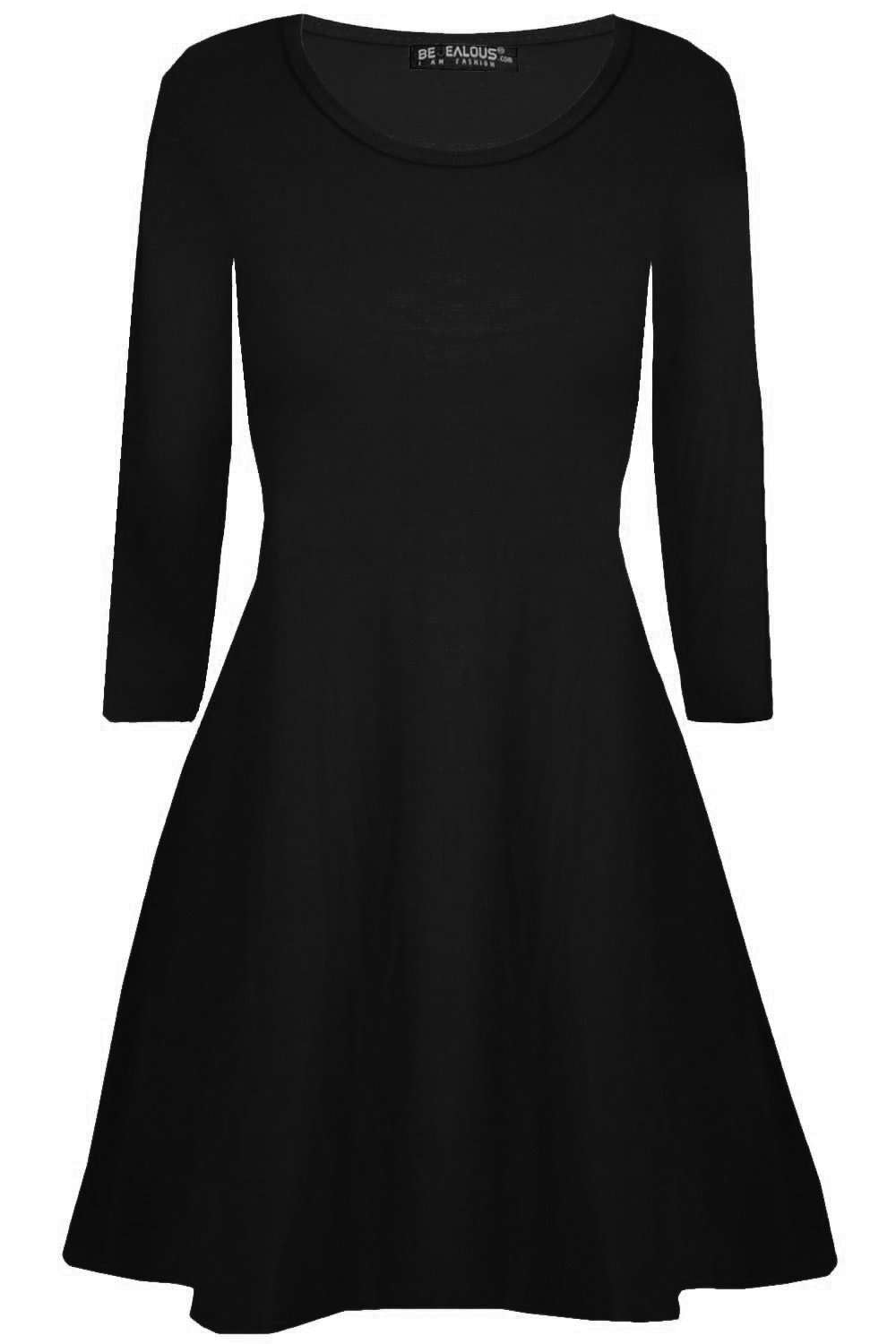 Lottie Plus Long Sleeve Mini Swing Dress - bejealous-com