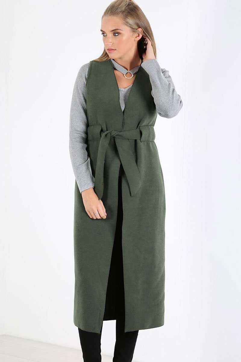 Lynda Waterfall Fleece Sleeveless Jacket - bejealous-com