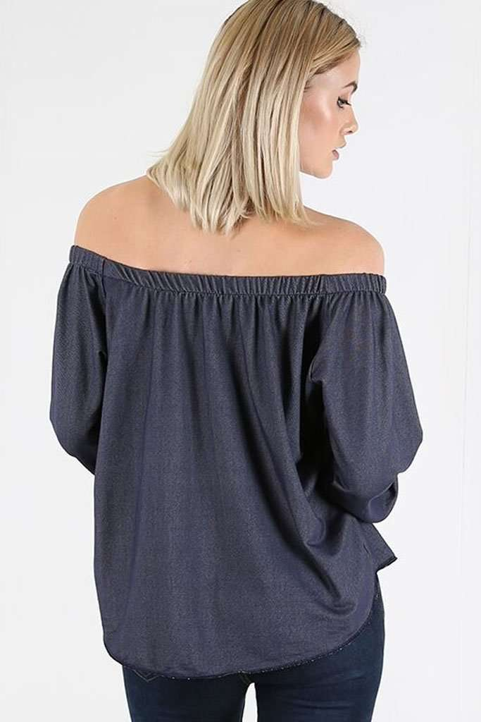 Marnie Off Shoulder Button Front Top - bejealous-com