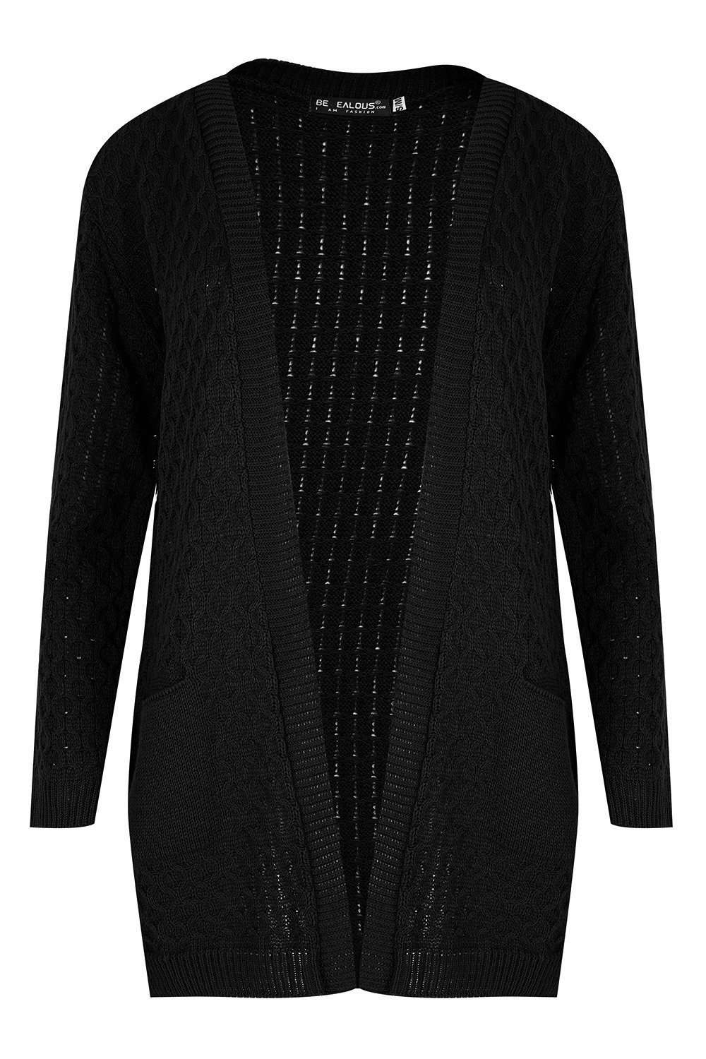 Mary Long Sleeve Knitted Cardigan With Pockets - bejealous-com