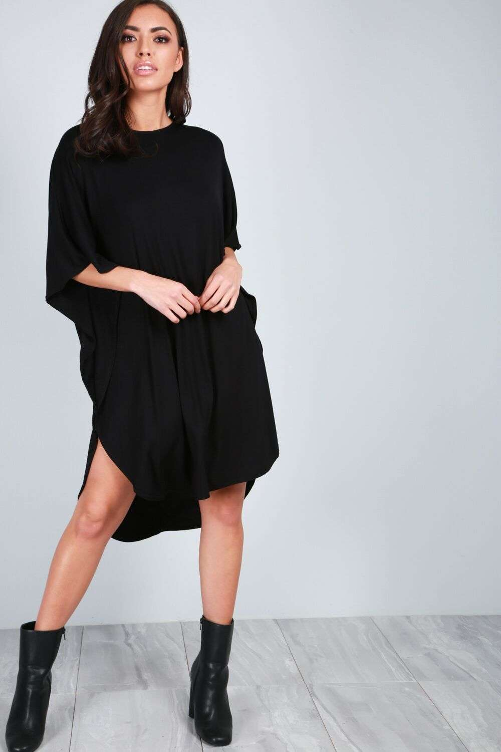 Meg Oversized Curved Hem Maxi TShirt Dress - bejealous-com