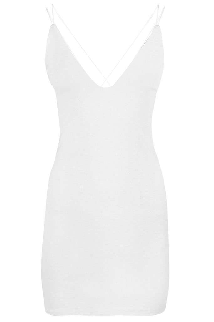 Melissa Racer Back Strappy Bodycon Dress - bejealous-com