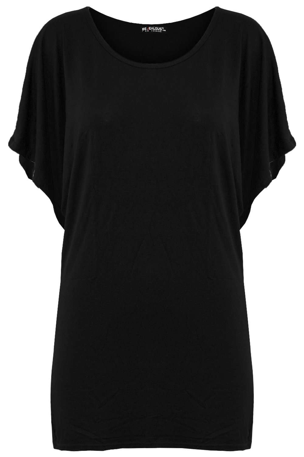 Melodie Plain Basic Bat Wing Tshirt - bejealous-com