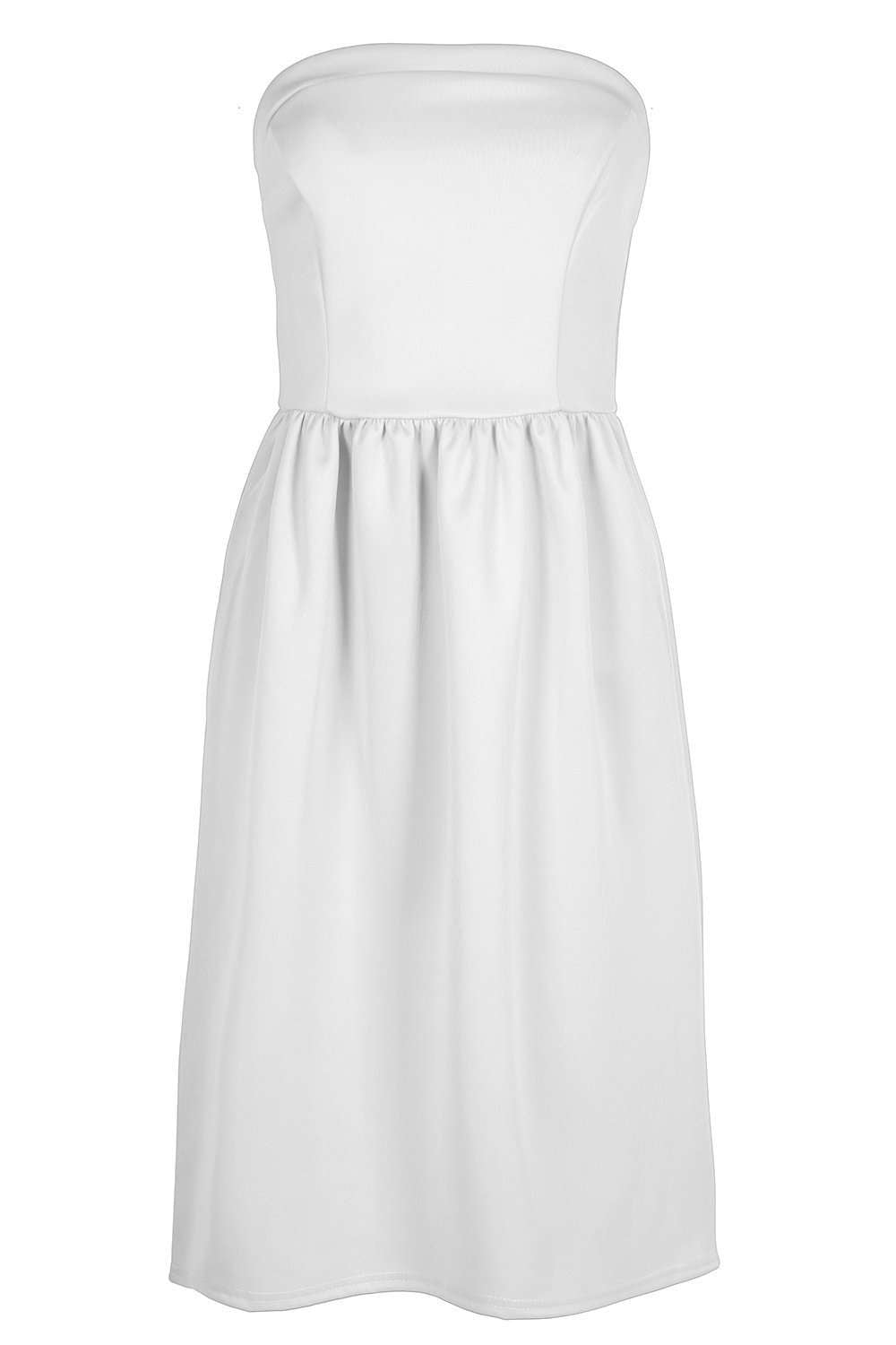 Michaela Black Bardot Midi Skater Dress - bejealous-com