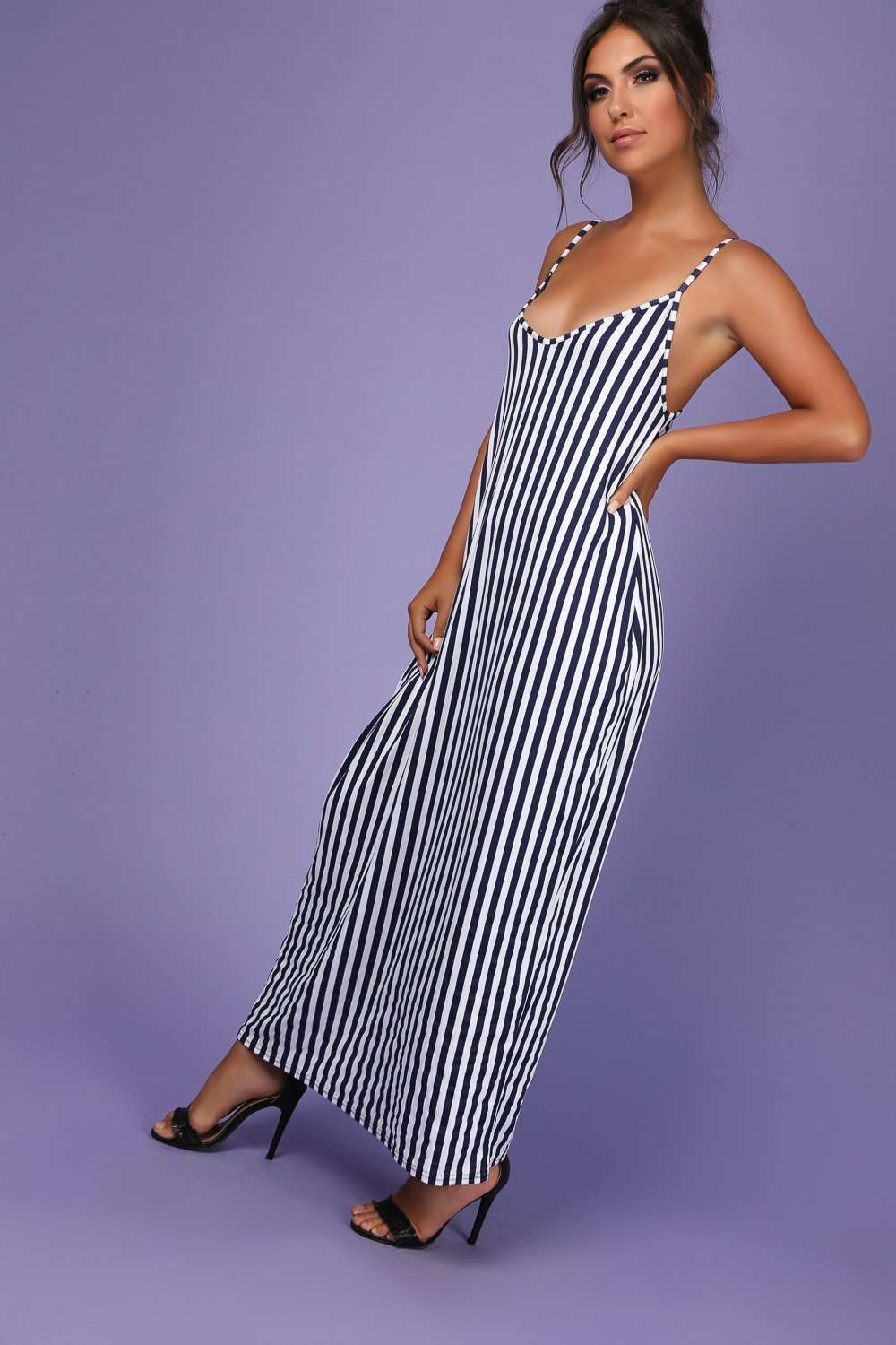 Mika Strappy Pinstriped Baggy Maxi Dress - bejealous-com