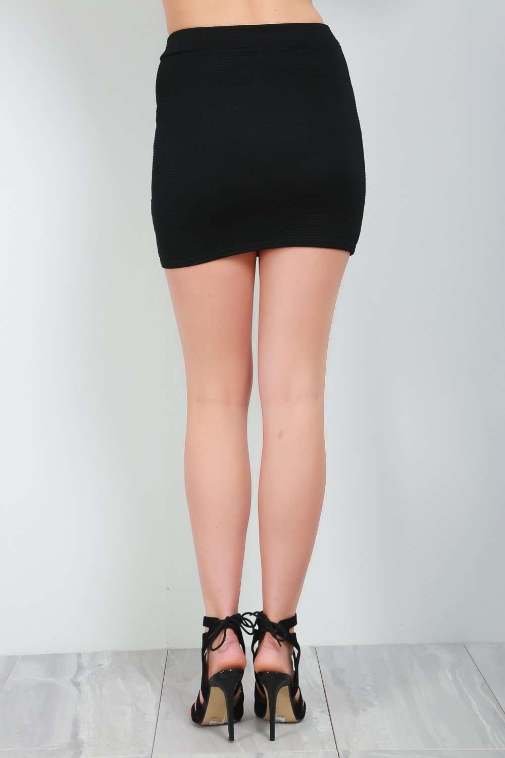 Miliana High Waist Ribbed Mini Skirt - bejealous-com