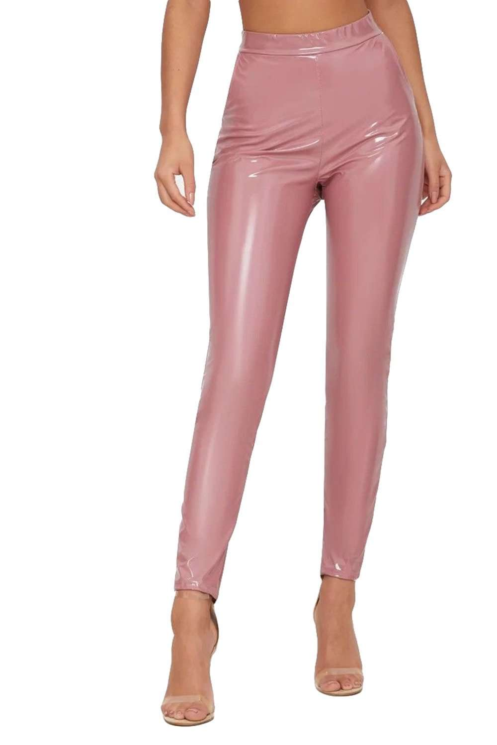 Millie High Waisted Faux Vinyl Leggings - bejealous-com