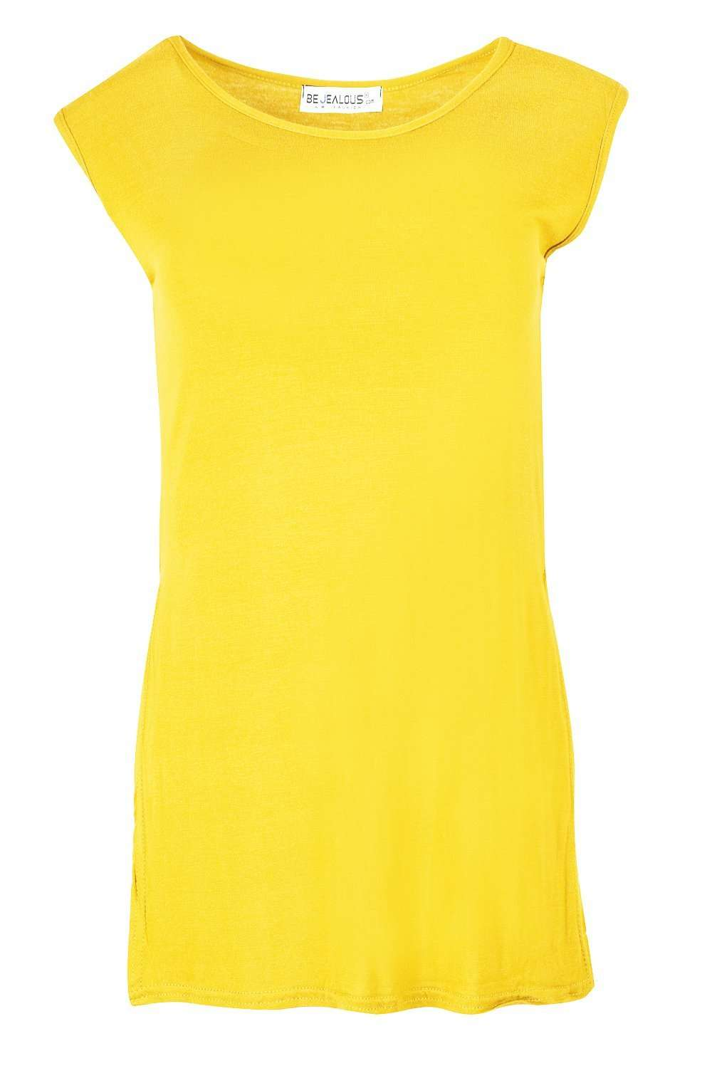 Millie Side Split Oversized Basic Vest Top - bejealous-com