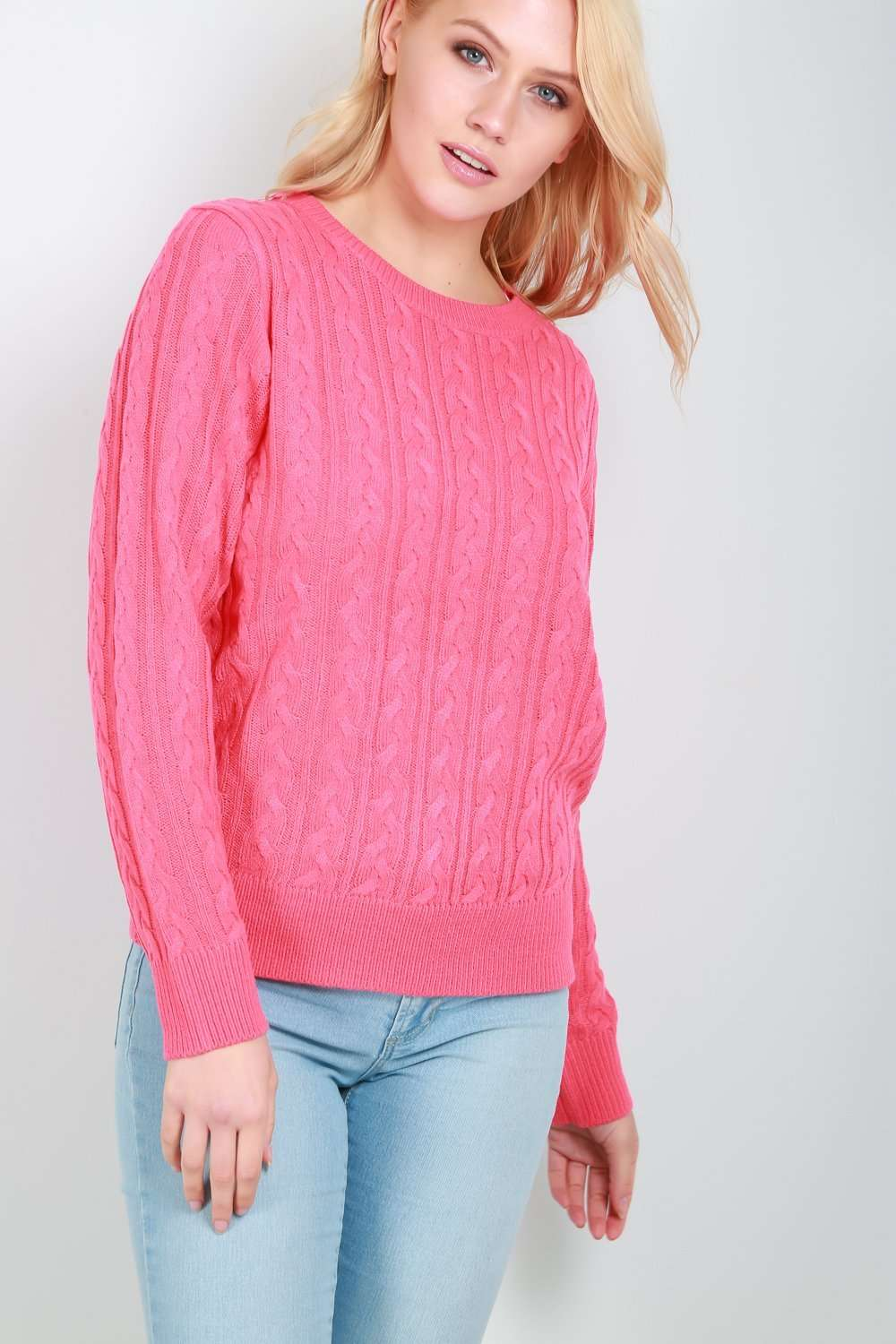 Long Sleeve Mint Cable Knit Jumper - bejealous-com