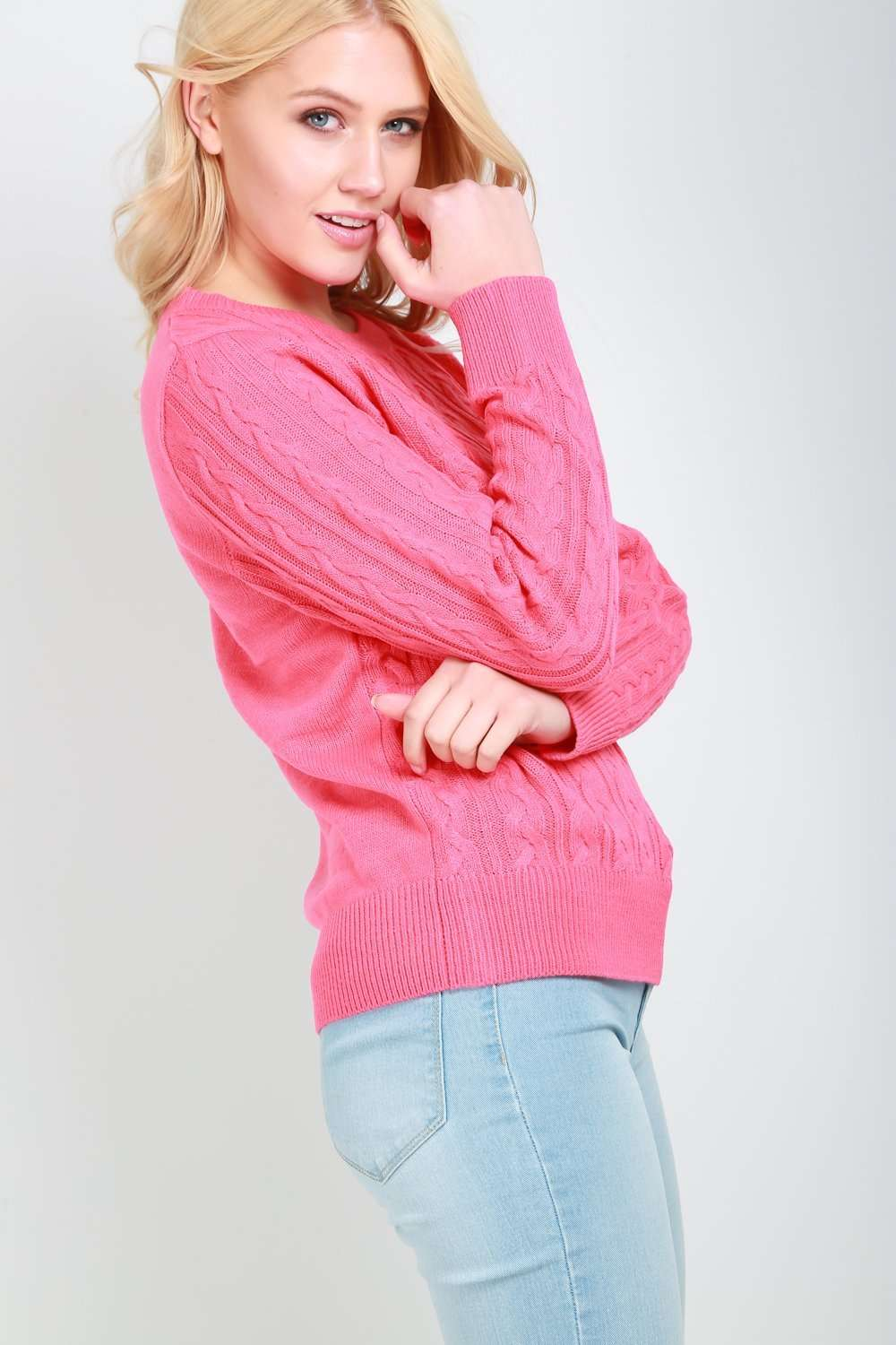Molly Long Sleeve Chunky Knit Baggy Sweatshirt - bejealous-com