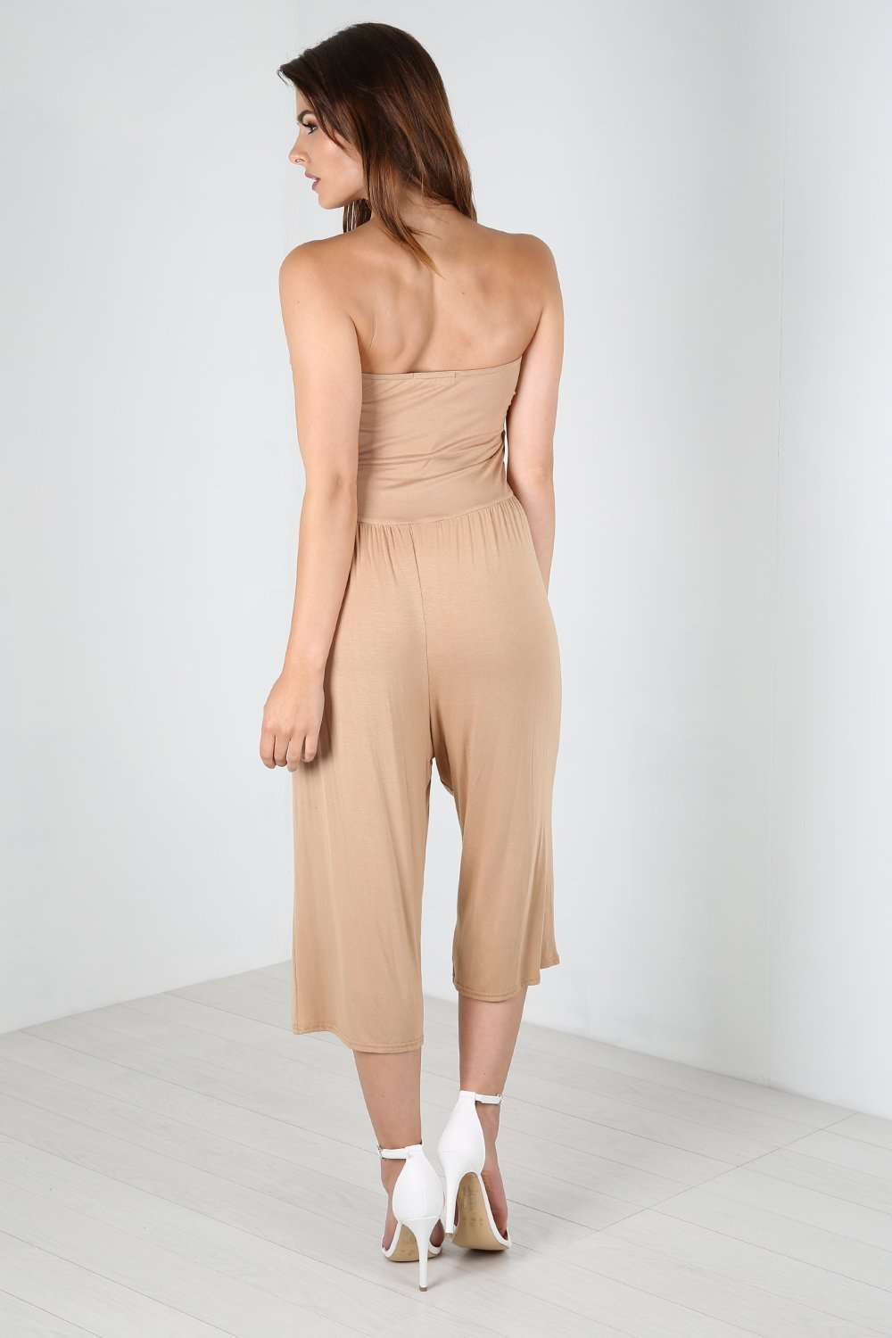 Mya Boobtube Ruched Sleeveless Jumpsuit - bejealous-com
