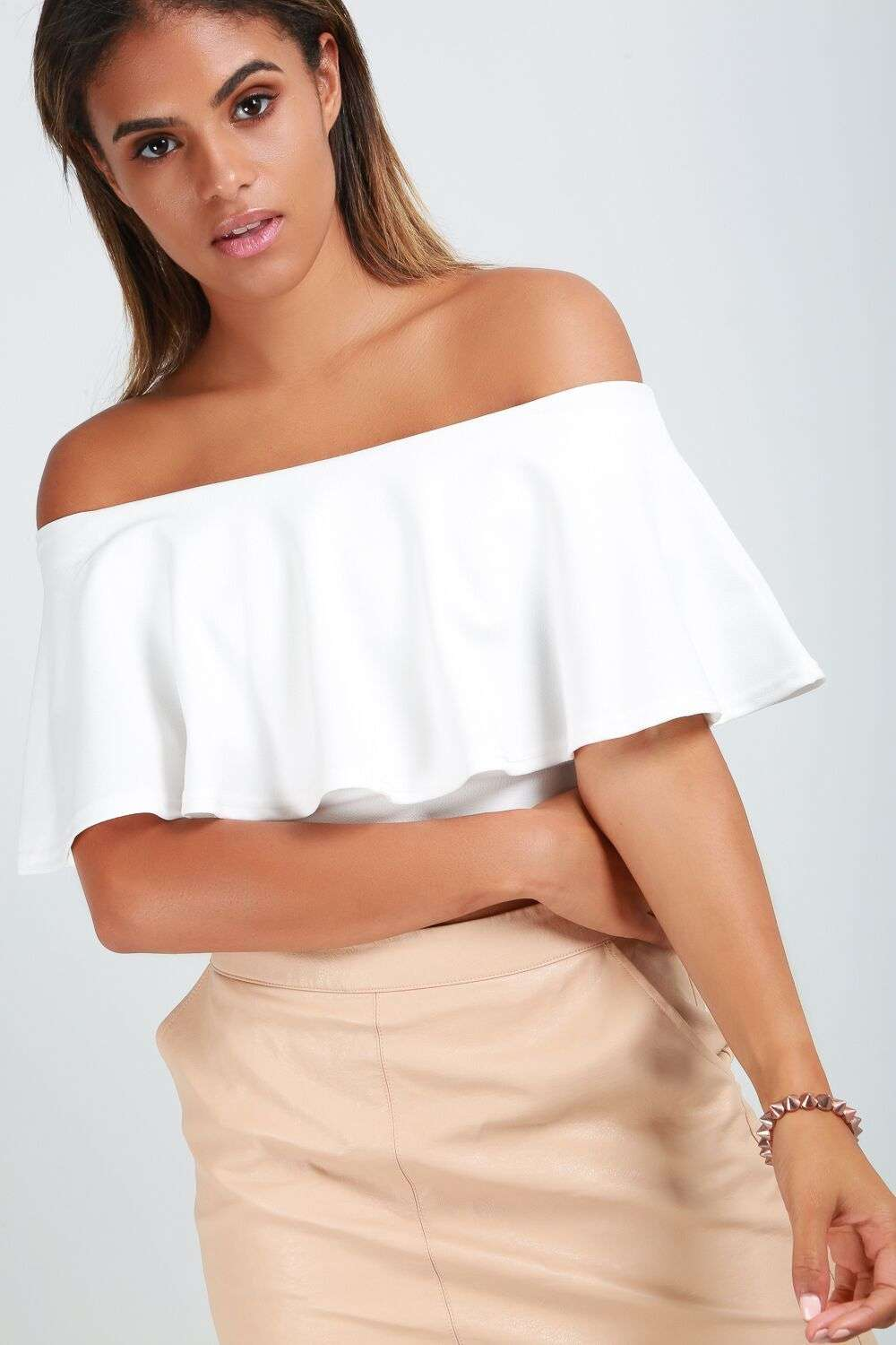 Mya Frill Cold Shoulder Top - bejealous-com